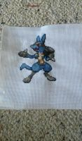 Lucario Sprite by CosmicBrownieLord
