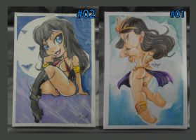 Vampirella and Dejah Thoris Selling by lufidelis