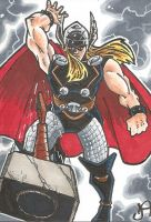 Thor Sketch Card by chicagogeekdad