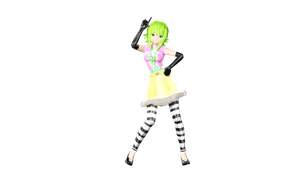 MMD DT Happy Synthesizer GUMI by willianbrasil
