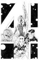 FANTASTIC FOUR GIANT-SIZE 1 bw by BroHawk
