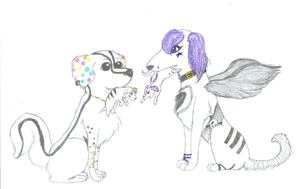 Natsume and Kiki's Puppy Fight by gir-is-me