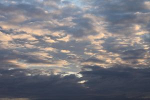 Cloudy Sunset Sky Stock by melemel