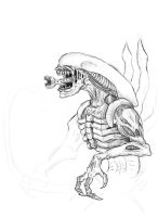 Unfinished Alien by BlargMySnoogle