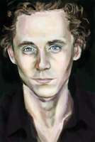 Tom Hiddleston Portrait by shylittleghost
