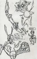 Fionna and Marshal Lee sketch dump by SkippyRulesTheWorld