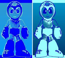 Mega Man 2 Panel Pop Art by TheGreatDevin
