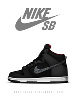 Nike Dunk High Premium SB 'Elephant Swoosh' by BBoyKai91