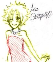lisa simpson o3o by kawamatil