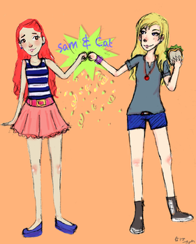 sam and cat by Ragetti