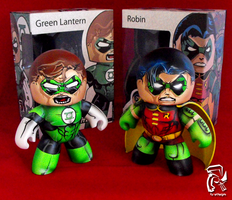 Robin and Green Lantern by FullerDesigns