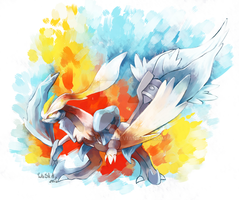 White Kyurem by CuteSkitty