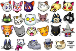 Anime Cats V.4 by Trish-the-Stalker