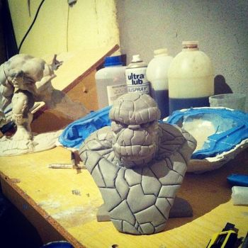 The Thing mini Bust scale 1/4 wip by juniormagalhaes