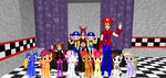 The Twins' Birthday Group Shot With Foxy by Mario-McFly