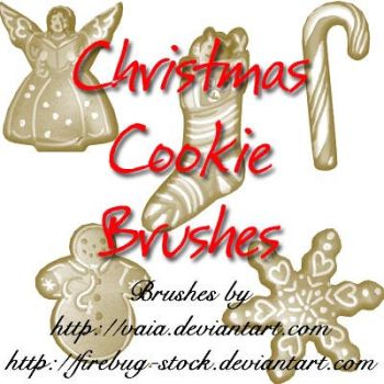 Christmas Cookie Brushes by firebug-stock