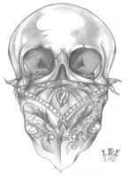 Skull Tattoo Flash by Ibi90