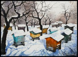 beehives by Kegriz