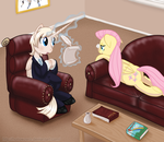 Day 21 - Pearly Consulting Fluttershy by hollowzero