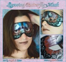 Lacewing Butterfly Domino Mask by Angelic-Artisan
