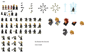 Roxas Sprites by Bowser-The-Second
