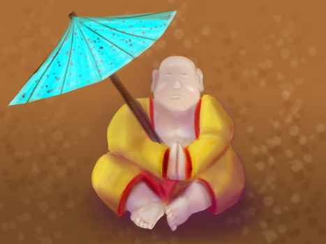 Happy Buddah :3 by Stormraught