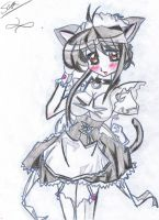 maid cat girl by Didaskaleinophobia