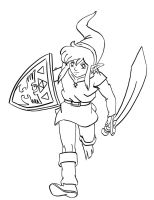 A Link to the Past Lineart by chr5d50