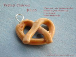 Salted Pretzel Necklace by Wintaria