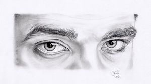 Robert Pattinson Eye Study by EmilyHitchcock