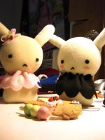 Bunny Plushies by minteaparty