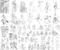 Sketch dump Jul-Dec 2013 by MUTE-sk3tch3s