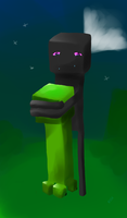 Enderman and creeper by Nivice