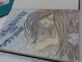 Eren Titan Form by EternalArtGirl740