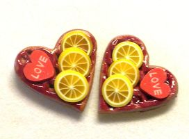 Love lemon earrings by sississweets