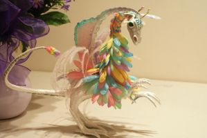 Floral Maned Faery Dragon by LilacGrove