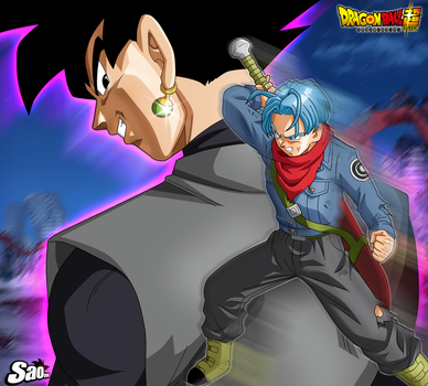Trunks Vs Goku Black by SaoDVD