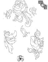 Tattoo Line Drawings 2 by Klyde-Chroma