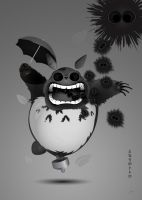 Dead Totoro and Co by PhantomxLord