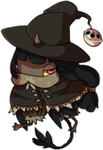 [chibi] - little witch by Sableu