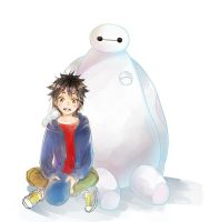 hiro and baymax by BOMHAT