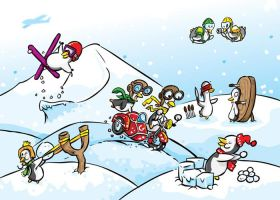 Penguin holidays fun by pocza