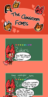 The Classroom Foxes: The Colors by Cookie-and-her-foxes