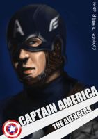 Avengers Portraits : Captain America by forbiddenist