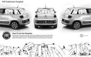 Graffiti inking Style for ( FIAT ) by parish91