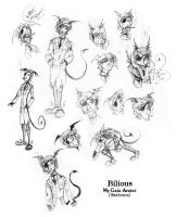 Gaia avatar sketches compiled by Bilious