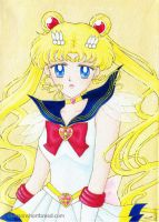 Super Sailor Moon on canvas by yuzukko