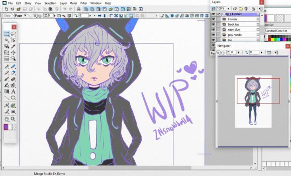 WIP chibi meow by ZNsnowbell4