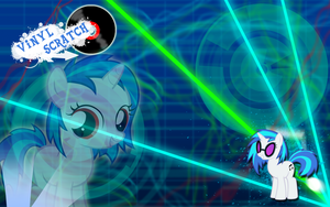 FiM: Vinyl Scratch Wallpaper by M24Designs