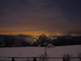 Snow in Graz by AustrianPictures